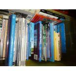 Box of mostly hardback books on Aviation