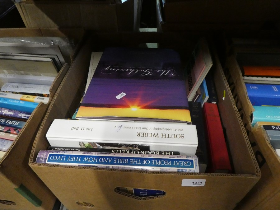 Three boxes of books on various themes