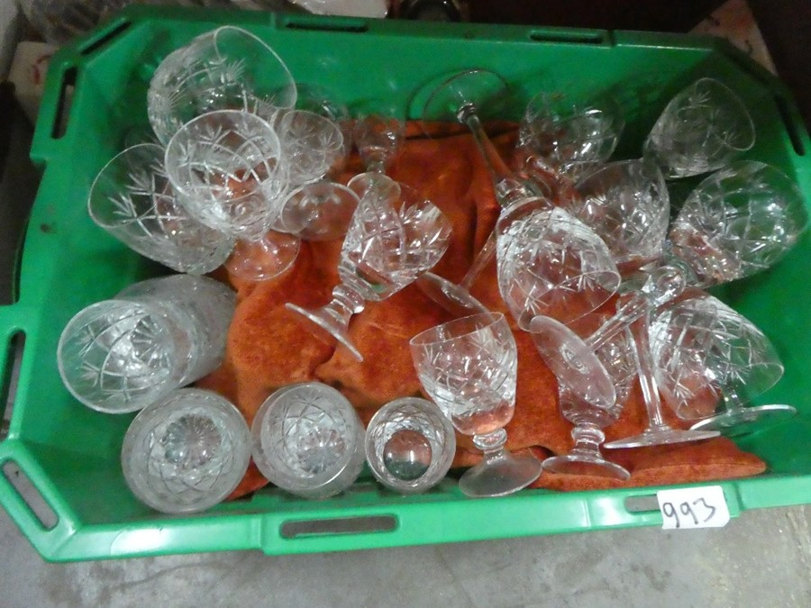 Several boxes of mixed china, glass and treen including Babycham glasses, coat hooks, etc - Image 5 of 6