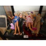 Selection of contemporary Action Man figures, Bratz dolls etc