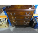Small mahogany chest of 4 drawers
