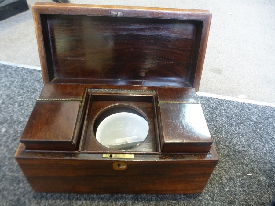 A Victorian rosewood tea caddy - Image 2 of 2
