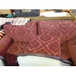 Large 3 seater red sofa