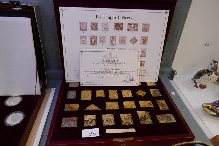 The Empire Collection, a set of gold plated solid silver limited edition ingots, numbered 2274, in f