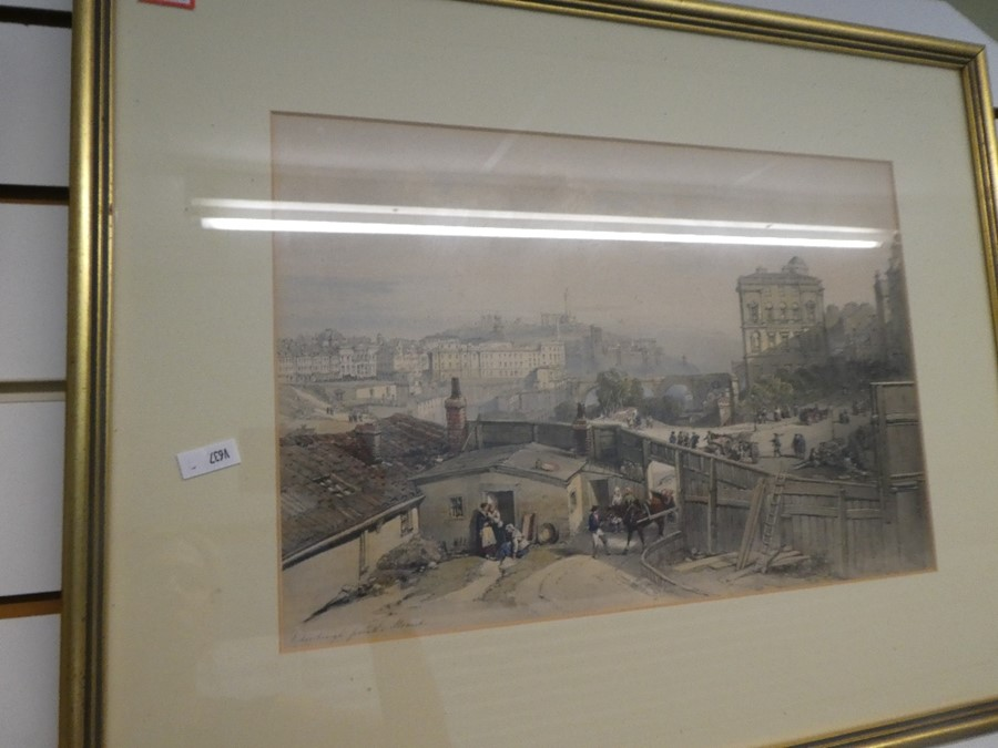 Three antique coloured prints of Edinburgh and the Palace of Holyrood - Image 3 of 7