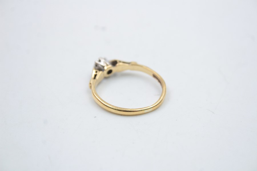 18ct gold diamond solitaire ring 2.6g - Image 3 of 6