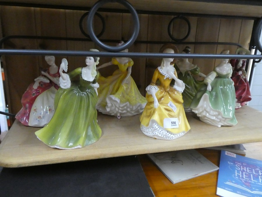 A quantity of Royal Doulton including Simone, Wistful & Fair Lady - some AF
