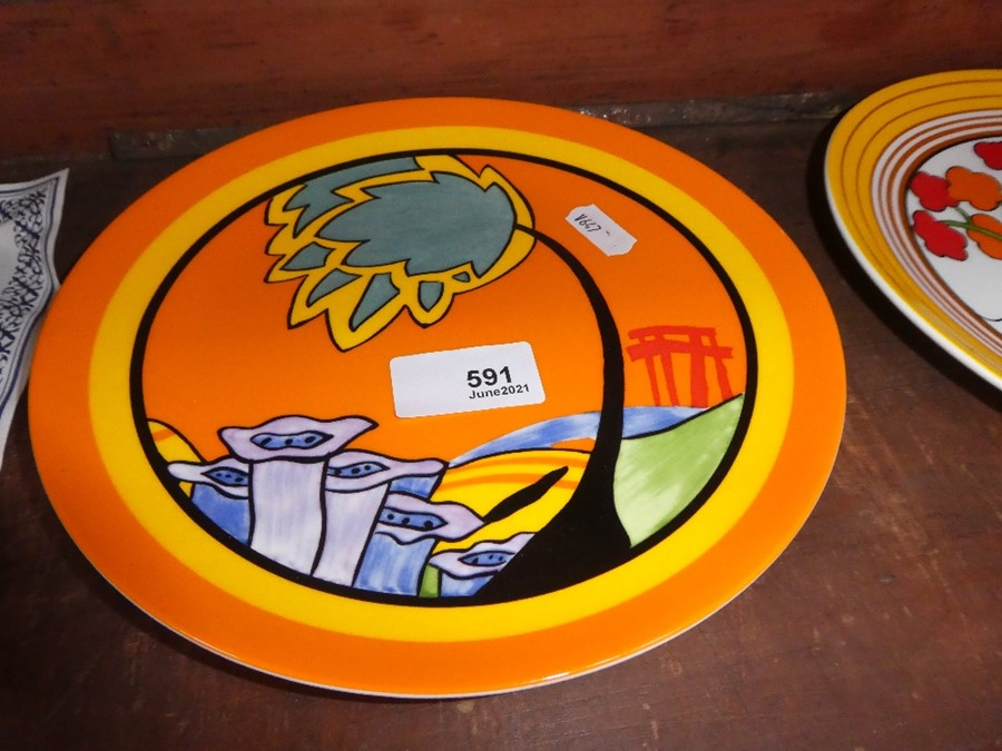Two Wedgwood limited edition Clarice Cliff plates, one with certificate - Image 2 of 4