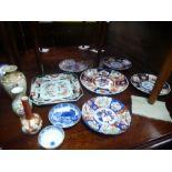 Quantity of Japanese Imari plates, vases and sundry