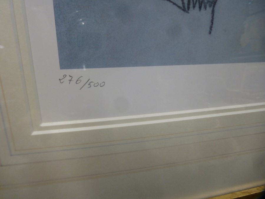 Two similar limited edition pencil signed prints of female nudes by Domingo - Image 5 of 5