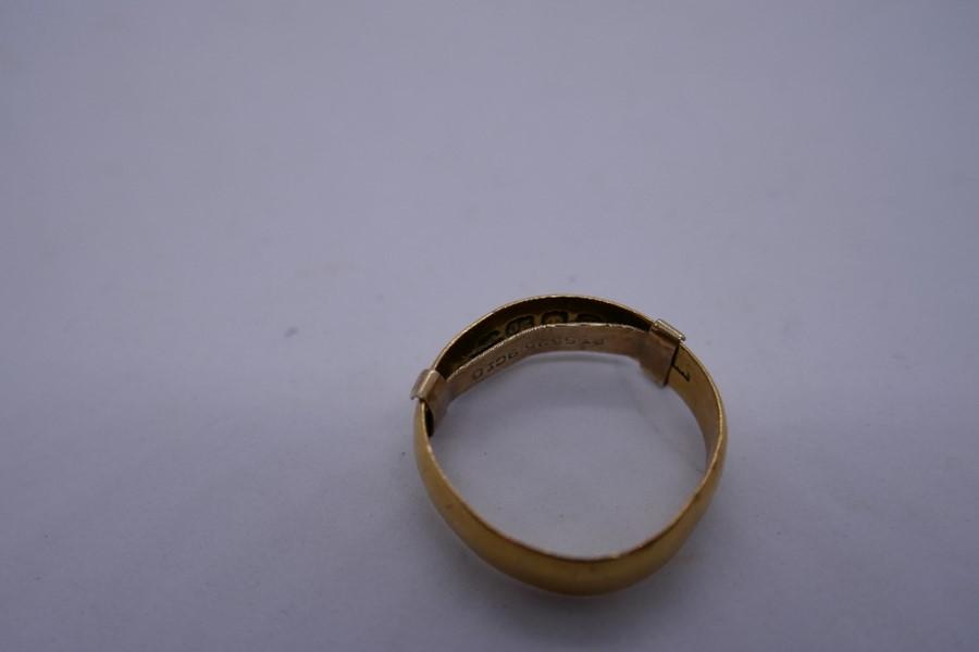 22ct yellow gold wedding band, size K, 2.6g - Image 3 of 4