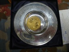 Hallmarked silver commemorative plate to commemorate HRH The Prince of Wales and Lady Diana Spencer