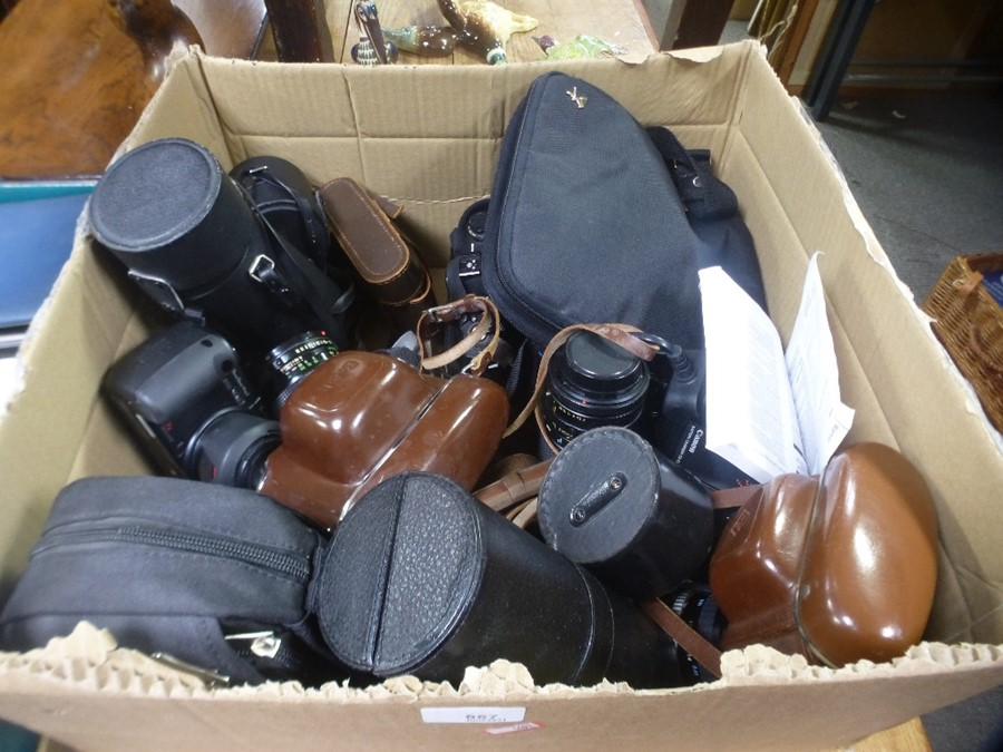 Quantity of cameras and lenses mainly SLRs