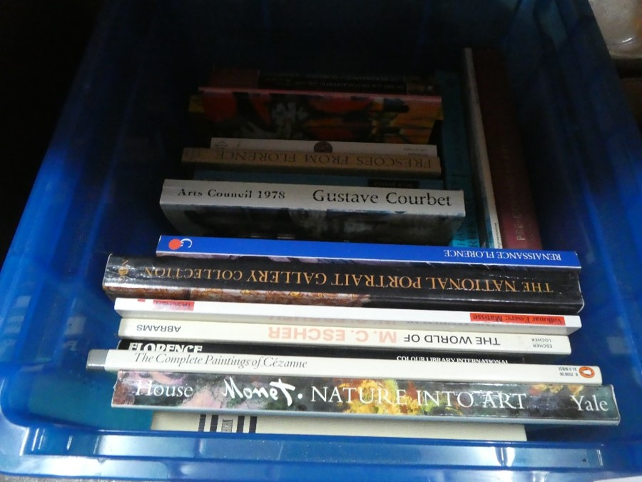 Two boxes of mostly hard backed books, mainly on Art - Image 2 of 2