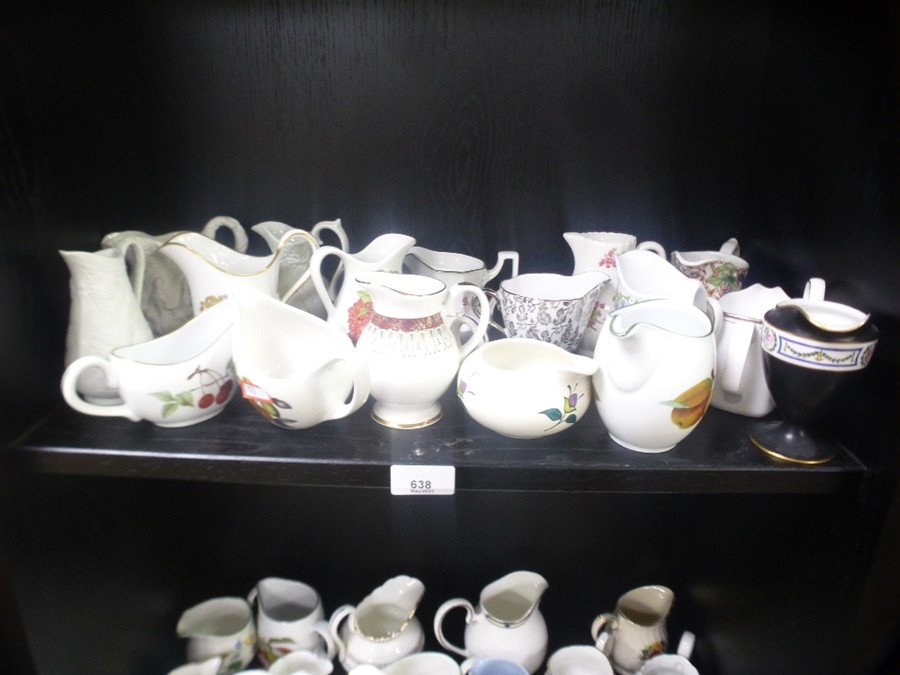 A quantity of cream jugs, Some Royal Worcester - Image 2 of 4