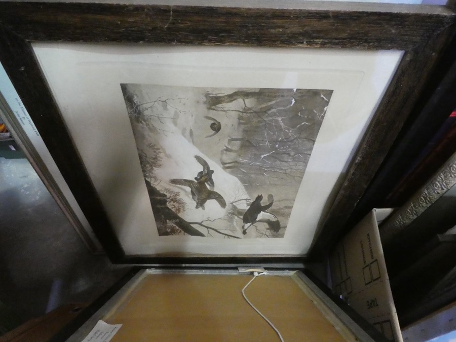 Quantity of framed and unframed pictures and prints - various scenes including street and landscape - Image 2 of 3