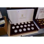 The Royal Marriage Commemorative Coin Collection 1981, comprising of sixteen silver coins in origina
