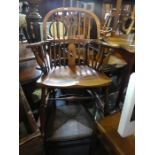 Vintage selection of furniture to include table and a selection of chairs including