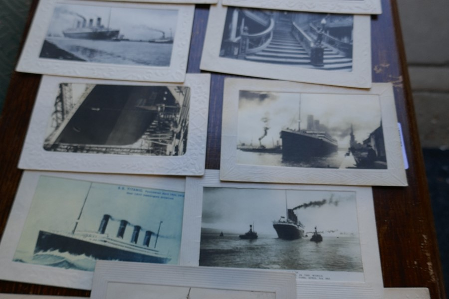 Eleven French Titanic postcards, some dated 1912, all appear from that period - Image 2 of 2