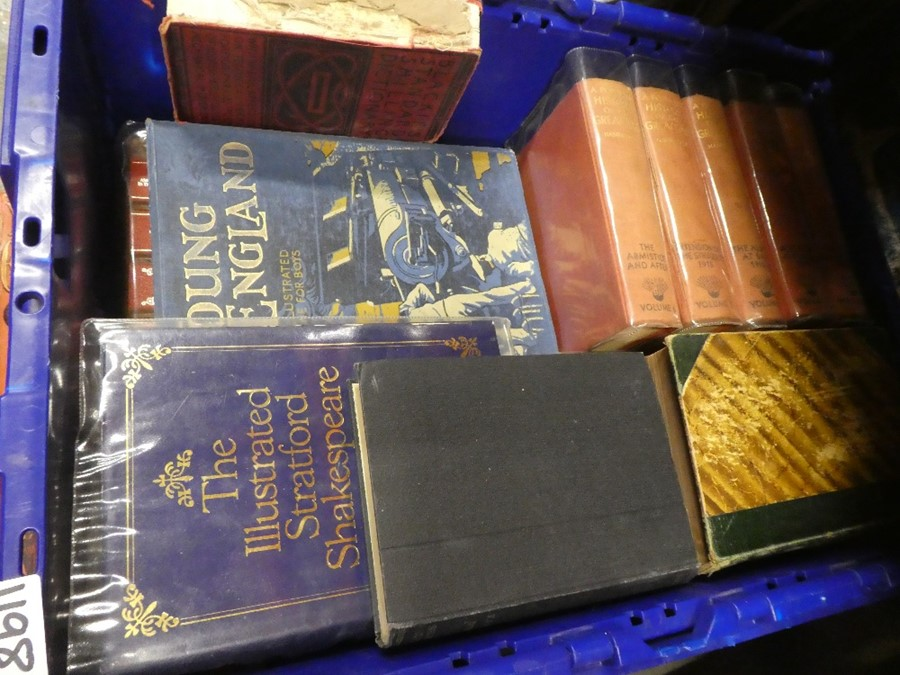 5 Boxes of books to include military books, children's annuals in plastic sleeves, War books and nov - Image 2 of 3