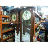 Two pendulum wall clocks AF
