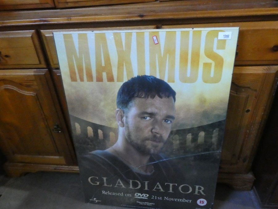 An advertising poster of the Gladiator movie, glass AF
