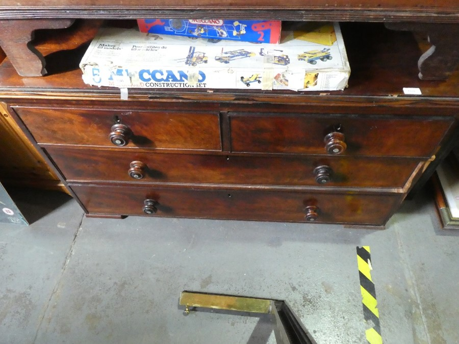 Two chest of drawers both two short over two long