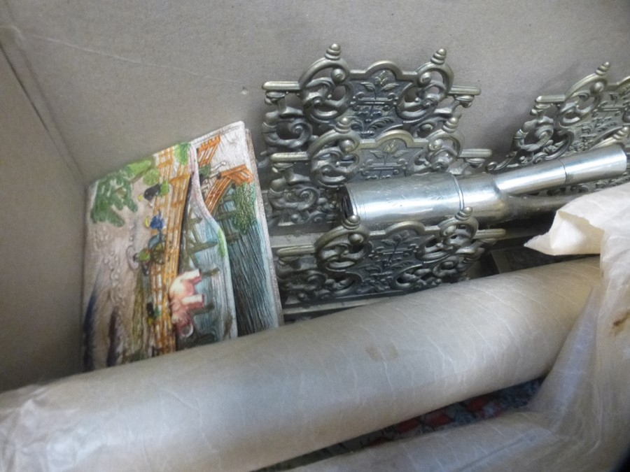 A mixed lot including two brass letter racks and a Humpty Dumpty teapot - Image 3 of 3