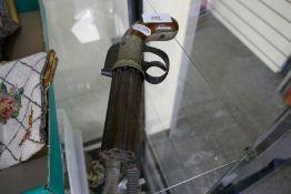 A 19th century Charles Osborne percussion pepperbox pistol having engraved decoration