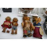 Vintage Steiff family of hedgehogs