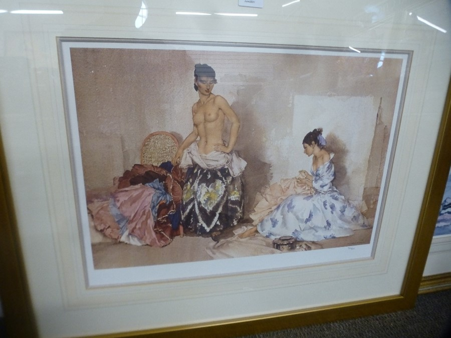 Limited edition Russell Flint print of two ladies and two others - Image 2 of 4