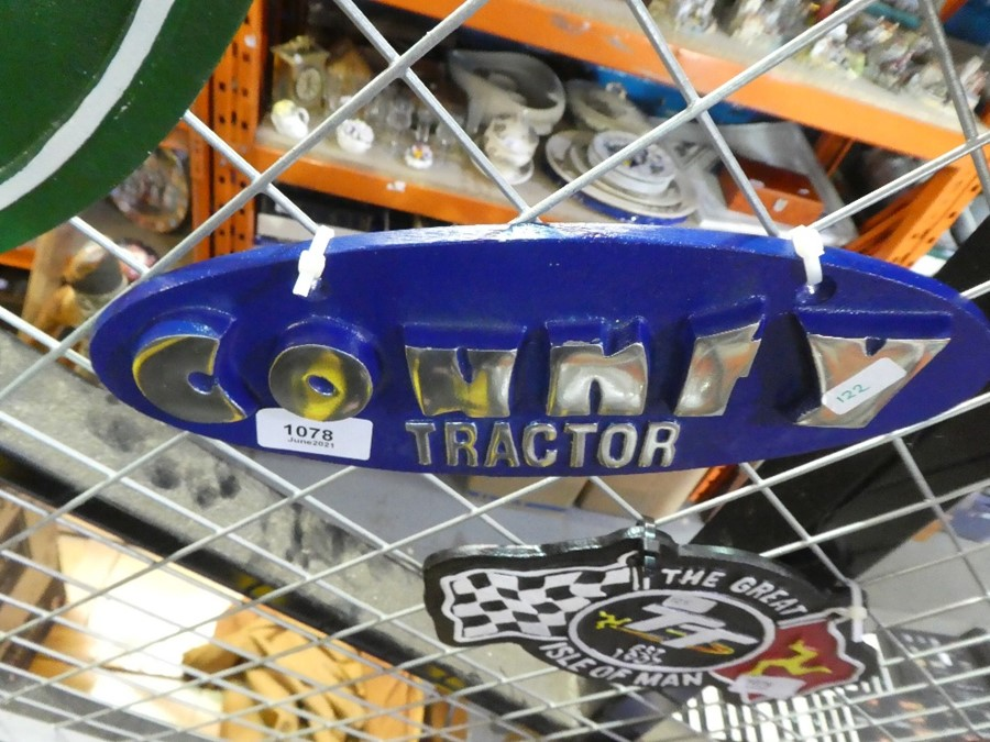 Ford County Tractor sign