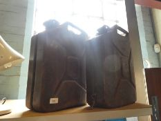 Two 1950 War department jerry cans