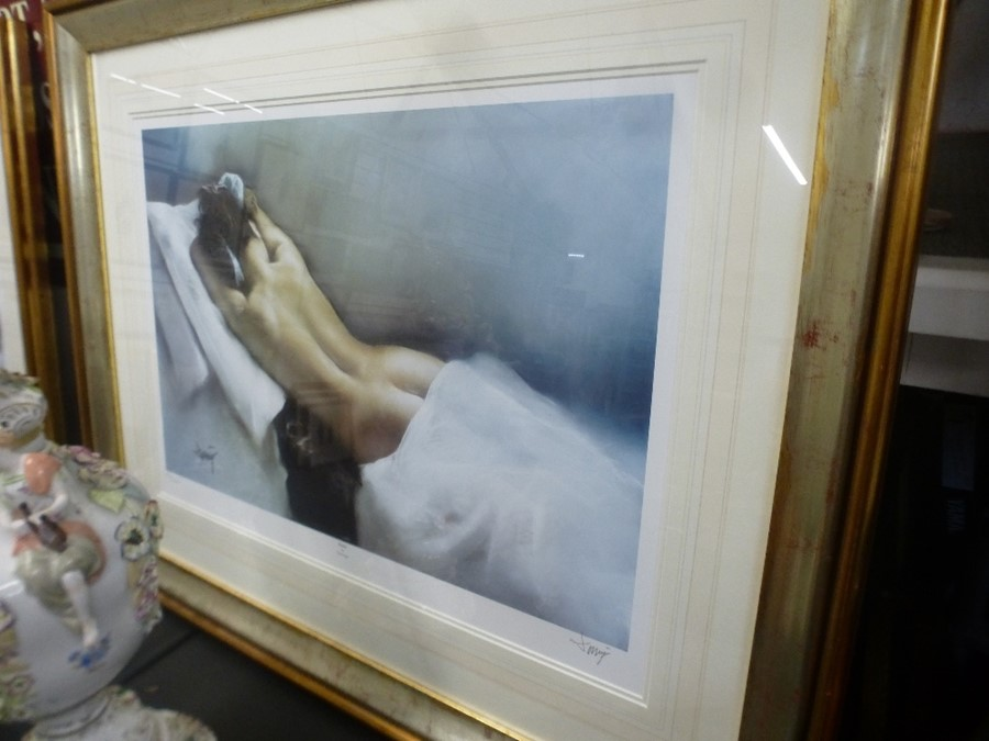 Two similar limited edition pencil signed prints of female nudes by Domingo - Image 4 of 5