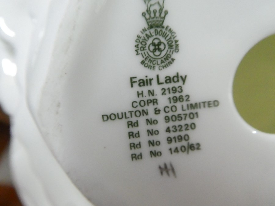 A quantity of Royal Doulton including Simone, Wistful & Fair Lady - some AF - Image 4 of 5