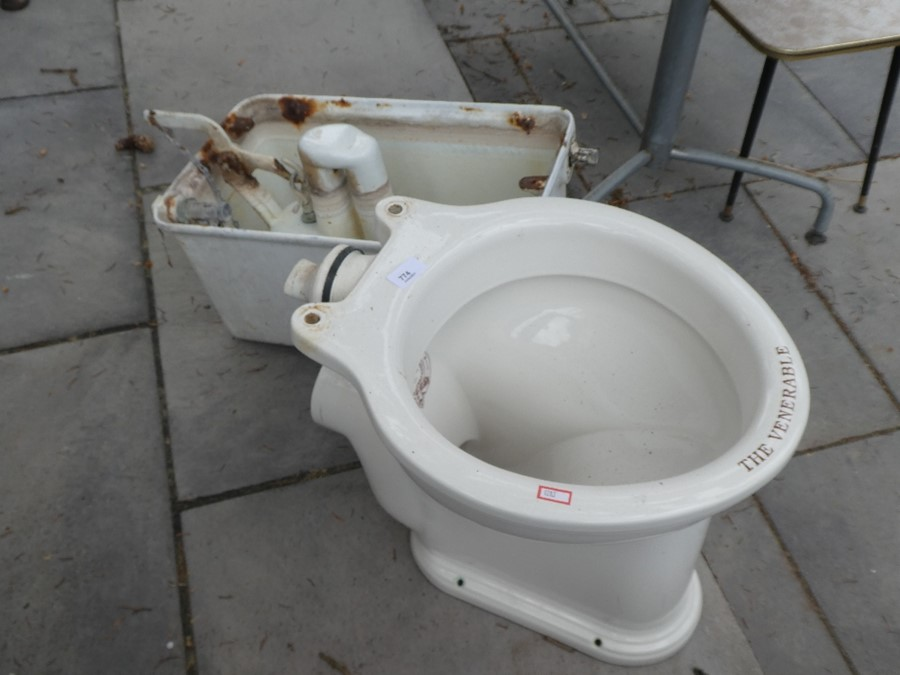 A vintage Thomas Crapper toilet and cistern