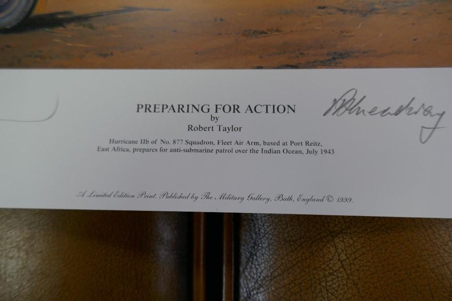 Gavin Mackay 'Chasing the Flying Scotsman' print signed by Lady Bader and a small Robert Taylor prin - Image 2 of 7