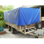 A large trailer, gross wt 2600 KG, measuring 1.76 x 4.38m, with paperwork, key and cover, manufactur
