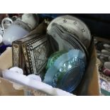 Vintage selection of china dressing table sets, including oriental themed china