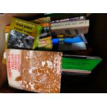 Box of hard back books relating mostly to Railways and Canals