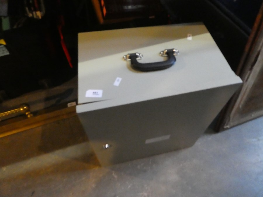 Steel small strong box with lock AF