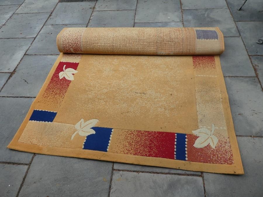 Beige patterned rug