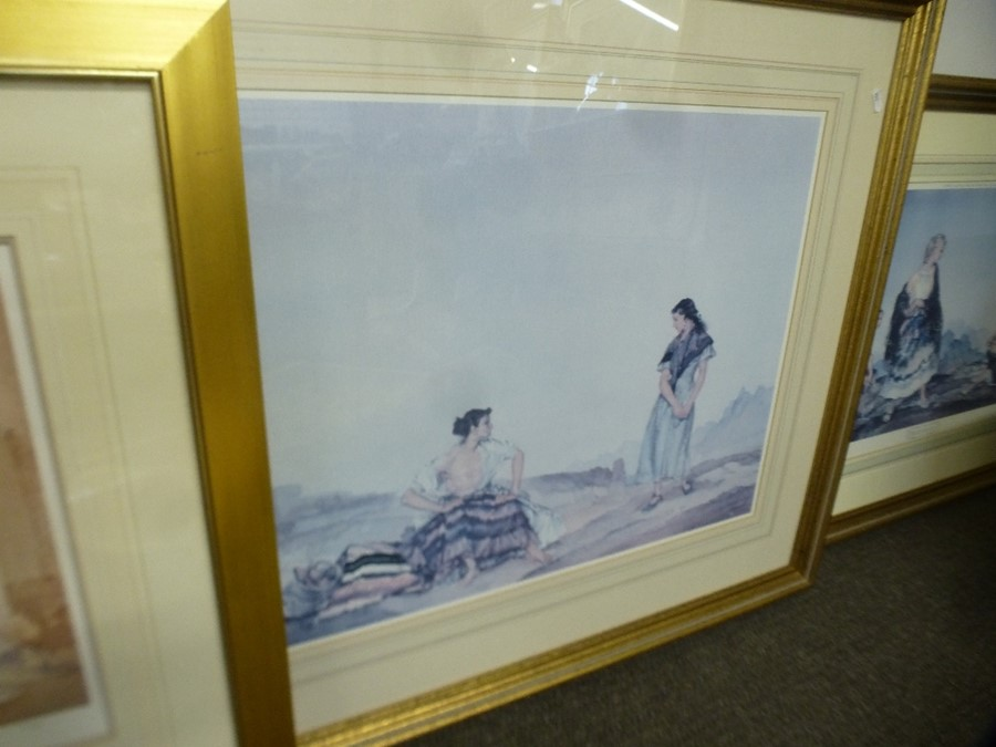 Limited edition Russell Flint print of two ladies and two others - Image 3 of 4