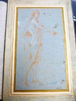 Flemish School, A standing Male Figure, recto; A study of Marsyas,verso, red chalk with touch