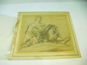 Mannerof Antonio Allegri called Correggio (1494-1534) An Evangelist seated, holding a book, possi