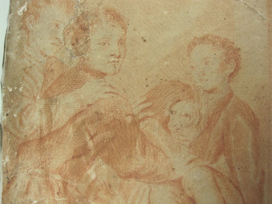 Italian School, 17th century (in the manner of Titian) A study for an altar-piece with figures an - Image 8 of 9