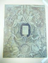 Circle of Taddeo Zuccaro (1529-1566) A Design for a Fresco with indistinct inscription 'Di Fra