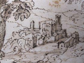 Circle of Giovanni Francesco Grimaldi, il Bolognese (1606-1680)A Classical landscape with trees a