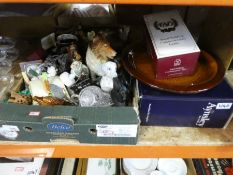 A quantity of china, glass and sundries to include Beswick, Aynsley, champagne glasses, other glasse