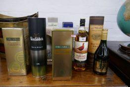 Five bottles of single malt Scotch Whisky to include a 1 Ltr bottle of Glenmorangie and other blende